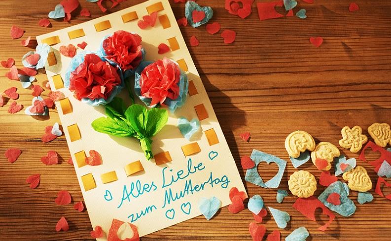 Gestalte deine ganz individuelle Glückwunschkarte zum Muttertag. Die Gestaltungsmöglichkeiten sind ganz vielfältig. (#02)