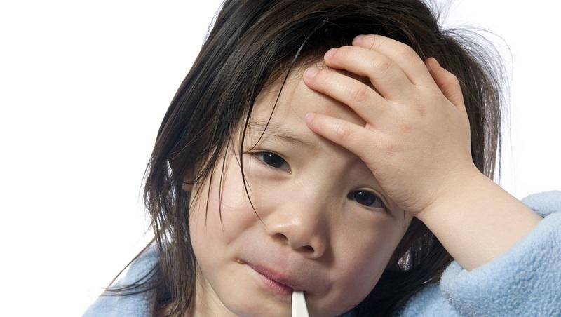 Mehrere Symptome treten plötzlich gleichzeitig und intensiv auf. Es kommt schnell zu hohem Fieber von 39 bis 41 Grad Celsius und Schweißausbrüchen.