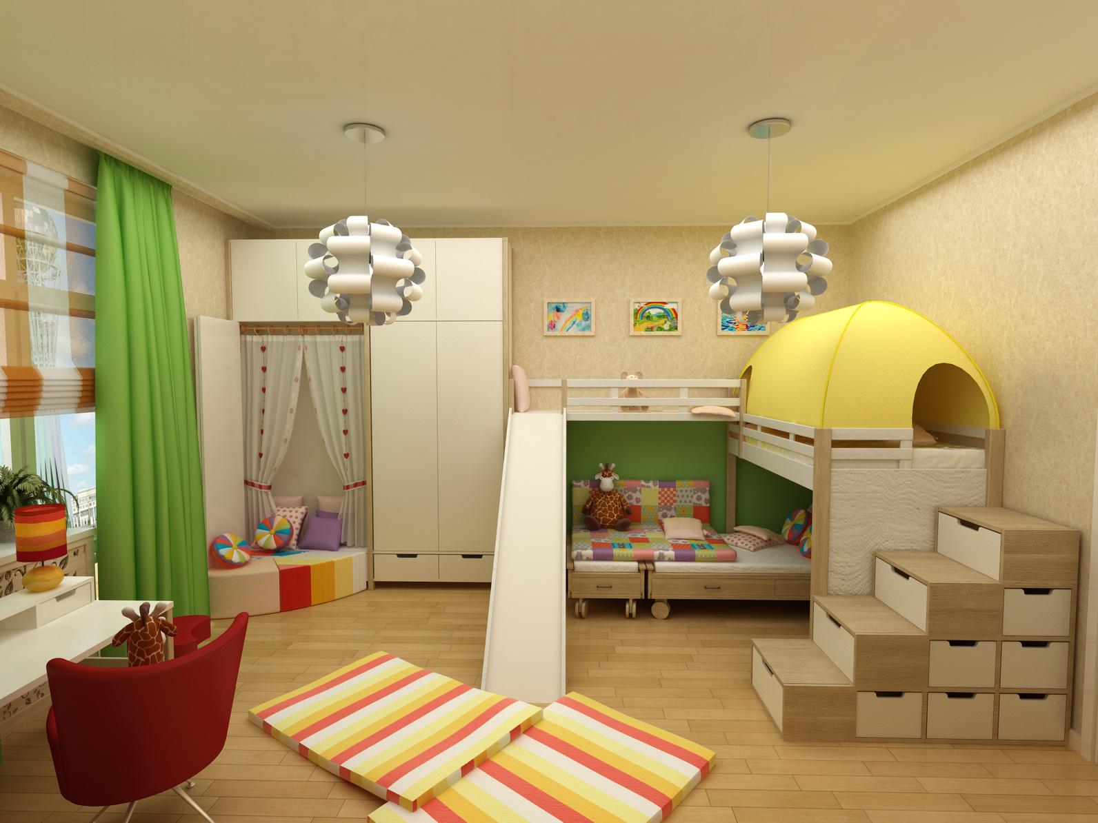 Das Hochbett ist nicht nur der Traum von vielen Kindern, es macht auch aus kleinen Räumen ein wahres Spielparadies. (#02)