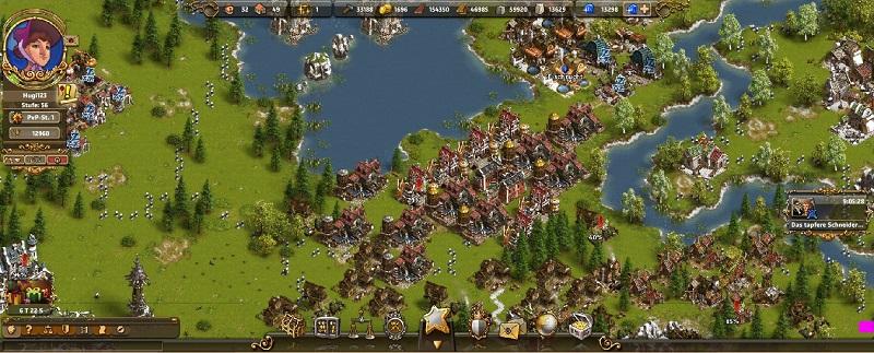 Computerspiele für Kinder: Der Aufbau von Städten beispielweise erfolgt meist in dauerhaften Spielen. (#05)
